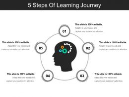 5 Steps Of Learning Journey Powerpoint Show