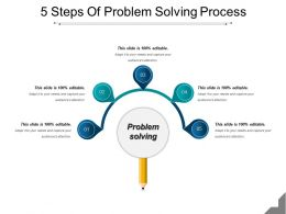 5 Steps Of Problem Solving Process Powerpoint Layout