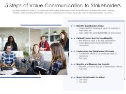5 Steps Of Value Communication To Stakeholders