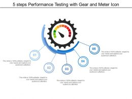 5 Steps Performance Testing With Gear And Meter Icon