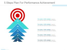 5 Steps Plan For Performance Achievement Powerpoint Images