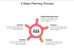 5 Steps Planning Process Ppt Powerpoint Presentation Shapes Cpb