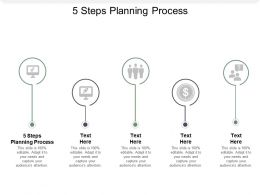 5 Steps Planning Process Ppt Powerpoint Presentation Styles Styles Cpb