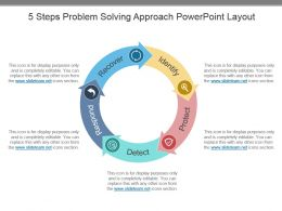 5 Steps Problem Solving Approach Powerpoint Layout