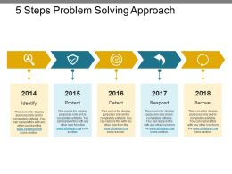 5 Steps Problem Solving Approach Ppt Templates