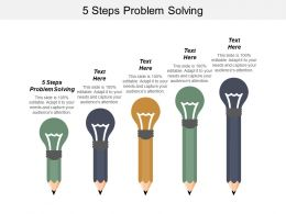 5 Steps Problem Solving Ppt Powerpoint Presentation Gallery Demonstration Cpb