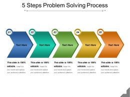 5 Steps Problem Solving Process Powerpoint Presentation