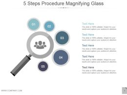 5_steps_procedure_magnifying_glass_powerpoint_ideas_Slide01