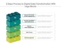 5 Steps Process To Digital Sales Transformation With Lego Blocks