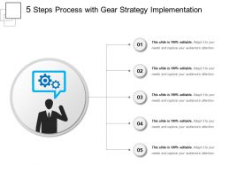 5 Steps Process With Gear Strategy Implementation