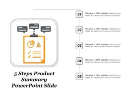 5 Steps Product Summary Powerpoint Slide