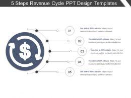 5 Steps Revenue Cycle Ppt Design Templates
