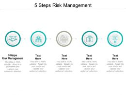 5 Steps Risk Management Ppt Powerpoint Presentation File Styles Cpb