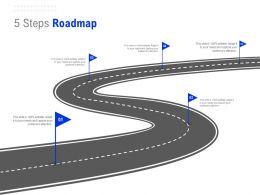 5 Steps Roadmap C1314 Ppt Powerpoint Presentation Gallery Slide Portrait