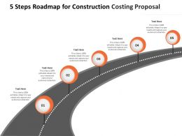 5 Steps Roadmap For Construction Costing Proposal Ppt Powerpoint Presentation Outline