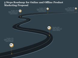 5 Steps Roadmap For Online And Offline Product Marketing Proposal Ppt Deck