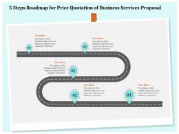 5 Steps Roadmap For Price Quotation Of Business Services Proposal Ppt File Slides