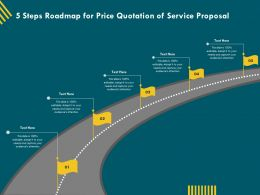 5 Steps Roadmap For Price Quotation Of Service Proposal Ppt File Brochure