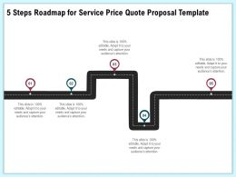 5 Steps Roadmap For Service Price Quote Proposal Template Ppt Topics