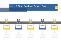 5 Steps Roadmap Process Flow M1247 Ppt Powerpoint Presentation Icon Example Topics