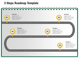 5 Steps Roadmap Template M1232 Ppt Powerpoint Presentation Icon Gallery