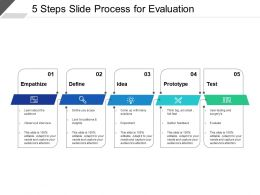 5 Steps Slide Process For Evaluation