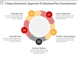 5 Steps Systematic Approach To Business Plan Development Powerpoint Show