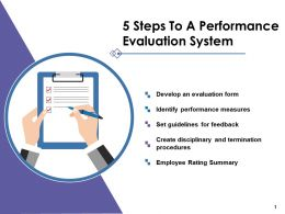 5 Steps To A Performance Evaluation System Ppt Pictures Clipart Images