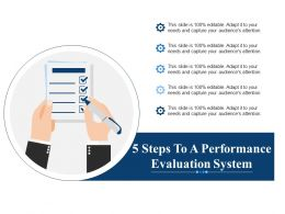 5 Steps To A Performance Evaluation System Ppt Professional Example Introduction