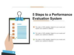 5 Steps To A Performance Evaluation System Ppt Visual Aids Infographic Template