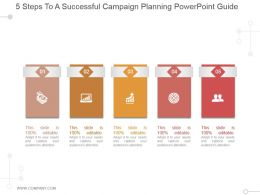 5 Steps To A Successful Campaign Planning Powerpoint Guide