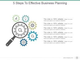 5 Steps To Effective Business Planning Example Ppt Presentation