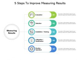 5 Steps To Improve Measuring Results