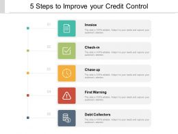 5 Steps To Improve Your Credit Control