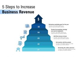 5 Steps To Increase Business Revenue