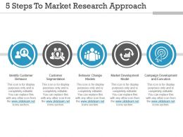5 Steps To Market Research Approach Powerpoint Slide Background