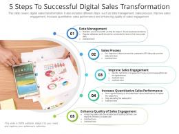 5 Steps To Successful Digital Sales Transformation
