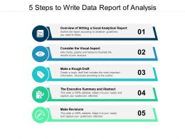 5 Steps To Write Data Report Of Analysis