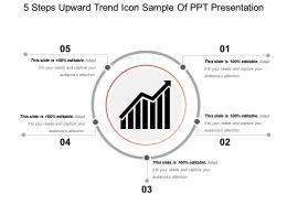 5 Steps Upward Trend Icon Sample Of Ppt Presentation