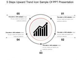 5_steps_upward_trend_icon_sample_of_ppt_presentation_Slide01