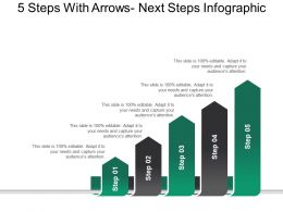 5 Steps With Arrows Next Steps Infographic Ppt Background Graphics