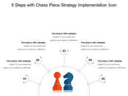 5 Steps With Chess Piece Strategy Implementation Icon