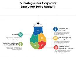 5 Strategies For Corporate Employee Development