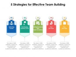 5 Strategies For Effective Team Building