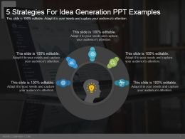 5 Strategies For Idea Generation Ppt Examples