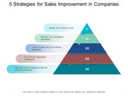 5 Strategies For Sales Improvement In Companies