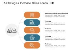 5 Strategies Increase Sales Leads B2B Ppt Powerpoint Presentation Show Deck Cpb