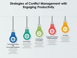 5 Strategies Of Conflict Management With Engaging Productivity