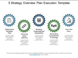 5 Strategy Overview Plan Execution Template
