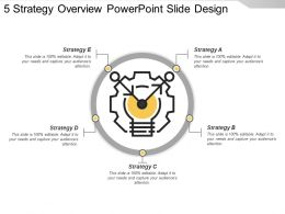 5 Strategy Overview Powerpoint Slide Design